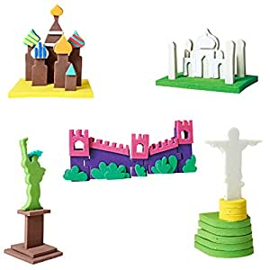 Worldwide Monuments- Educational Toy and 3D Model Making Set for Boys and Girls