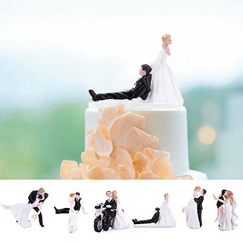 LianLe Boda decoración para Tarta para huging Novia y el Novio Figuras decoración de Pasteles