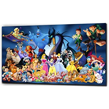 Disney Characters Canvas Print Color As Shown In Picture Canvas