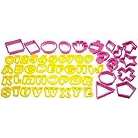 Kitchen Craft Let's Make Fifty- Set in plastica per tagliare i biscotti con barattolo