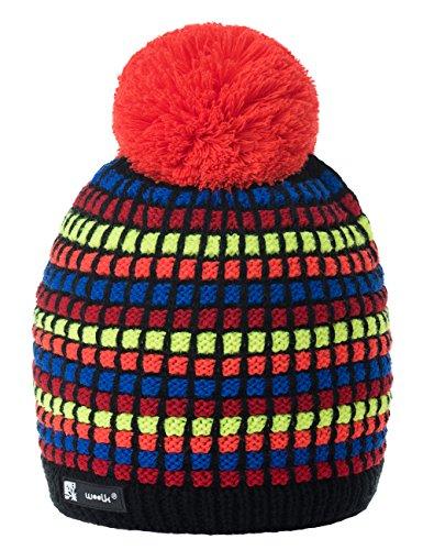 9709d1ab1b2ba Men Women Winter Beanie Hat Knitted Multicoloured Chunky Bobble Ski Cap Pom  Pom Fleece Lining MFAZ