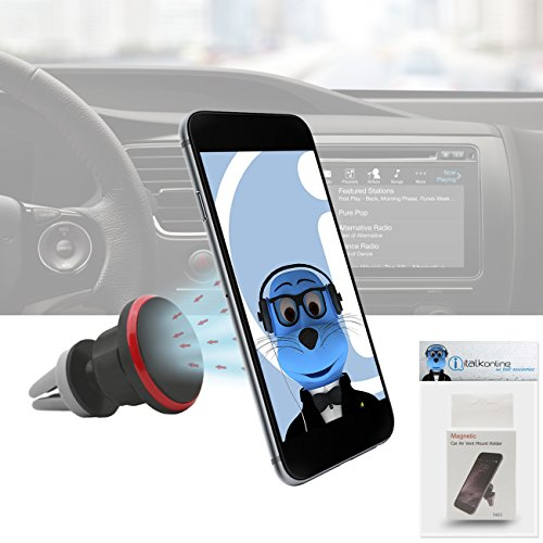 Case Compatible Multi-direction (Use with or without your existing case!) Black Magnetic Air Vent In Car Holder for Nokia Asha 210  available at amazon for Rs.332