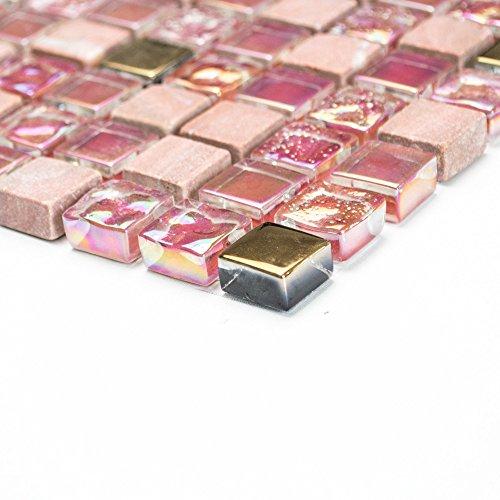 baldosas-mosaico-mosaico-azulejos-bano-cocina-de-piedra-de-cristal-mix-rojo-rosa-oro-8-mm-nuevo-026