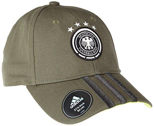 adidas Erwachsene Cap DFB 3-Stripes, Base Green S15/Granite/Solar Slime, OSFM, AI8812