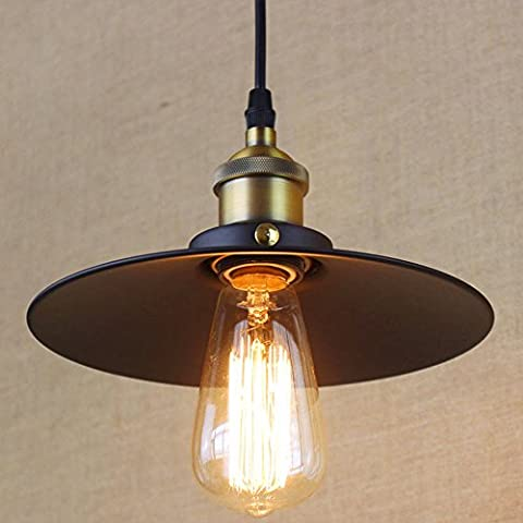 Frideko Vintage Industrial Loft Bronze Lampshade Ceiling Pendant Light for