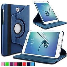 Infiland Samsung Galaxy Tab S2 9.7 Funda Case-PU Cuero 360°Rotación Smart Cover Cascara con Soporte para Samsung Galaxy Tab S2 T810N / T815N 24,6 cm (9,7 pulgadas)Tablet-PC (con Auto Reposo / Activación Función)(Azul Oscuro)