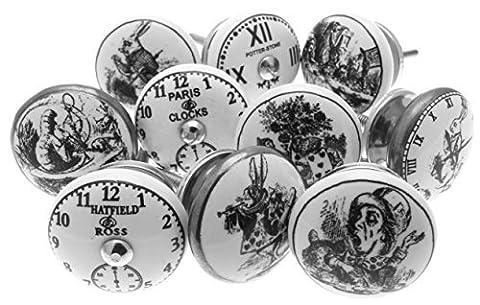 Gemischt Set mit 'Alice im Wunderland - Uhren' schwarz &