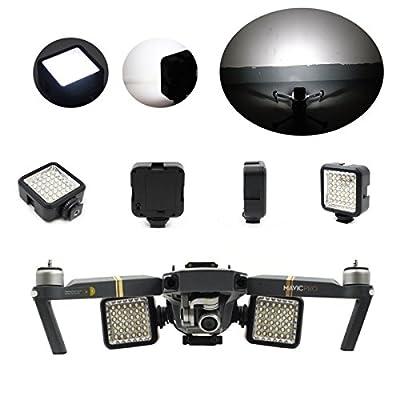Mini Interlock Drone Dimmable LED Panel Light Camcorder Video Light for DJI Mavic Pro/Mavic Pro Platinum (2pcs/lot)
