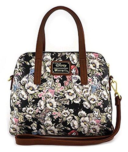 Loungefly Schultertasche Tasche Disney Handtasche Prinzessinen Cinderella Arielle Aurora Schneewittchen (Cinderella Tasche)
