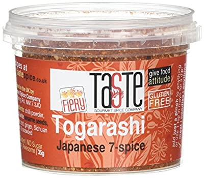 Gourmet Spice Company Fiery Togarashi Japanese Seven Spice Seasoning 35 g (Pack of 3) from Gourmet Spice Company