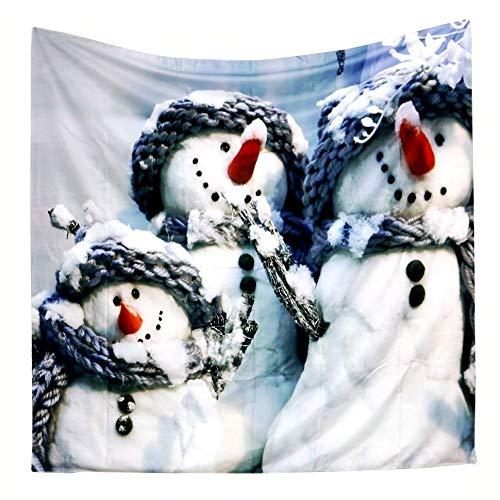 jtxqe New Beach Shawl Home Print Weihnachten Schneemann Tapisserie Weihnachten Hirsch Weihnachten 1 150 * 130 -