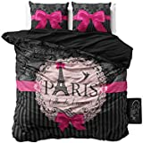 Sleeptime Copripiumino I Love Paris Pink - 200x200/220 - Rosa + Con 2 Federa 60x70