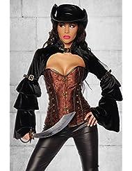 Samt Bolero geeignet fürs Piraten Kostüm in schwarz Gr. XS bis XL