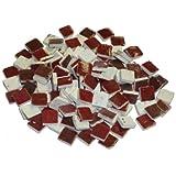 229302810x 10x 3mm 70g 150-tlg. Keramik glasiert Mosaik Fliesen, rot