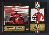 New 2018Sebastian Vettel SIGNED Autograph Print Foto Formel 1GP gerahmt bedruckt ohne Passepartout