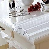 XJ&DD Klar Kunststoff Tisch Protector,PVC Tischdecke,Wasserdicht Oilproof Einweg Für Coffee Table Esstisch Home Küche-A 80x120cm(31x47inch)