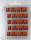 Wago 221 Klemmen SET 5x 221-412, 221-413, 221-415 | Kabel Verbinder in der wiederverschließbaren Box - Original WAGO