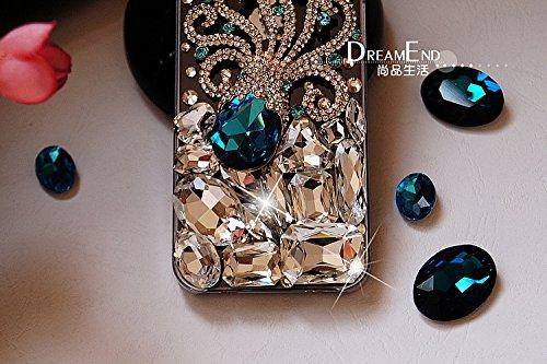 Coque iPhone 6 Plus/6s Plus , iNenk® Le nouveau alliage Octopus Paillettes luxe diamant pâte téléphone Shell manchon protecteur Gem bleu Pearl dur PC mode Housse étui pour femmes-Bleu 3bleu