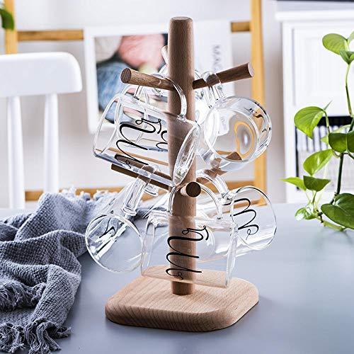 Glas Saft Milch Frühstück Kaffee Haferflocken Tasse Niedlichen Cartoon Muster Home Set Wohnzimmer Tasse Glas Wasser Mit Becherhalter Set C -