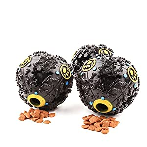 Ercoy Balle Boule Sonore Distributeur Croquette Nourriture Jouet pour Chien Animaux S 7cm
