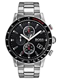 Hugo BOSS Herren Chronograph Quarz Uhr mit Edelstahl Armband 1513509