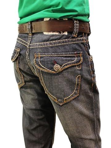 Herren Jeans von MEK, New York, Straight Leg, darkblue,