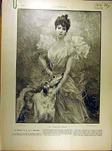 Copie 1901 de Mariage de Germaine-Brice Deschanel de Portrait