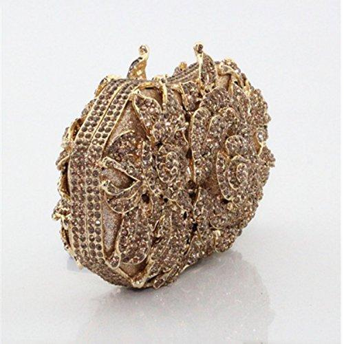 Sacchetto Di Mano Di Modo Del Banchetto Di Diamante Del Sacchetto Di Sera Delle Donne Gold