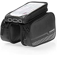 ROSWHEEL Touch Screen Borsa, Bicicletta Ciclismo Borsa Cellulare Universale, 3 in 1, a Forma di Sella, Per Smartphone IPhones Samsung LG Nexus Lumia Sony HTC per Schermo Sotto