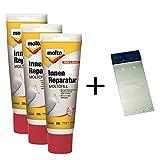 Molto Moltofill Reparatur für Innen, auch als 3er Set mit Metallspachtel erhältlich (3er Set mit Metallspachtel)