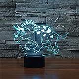 WJPDELP-YEDE Dinosaurier 3D Tischlampe Luminaria LED Nachtlicht USB Touch-Schalter Kinder Schlafzimmer Dekorative Beleuchtung Großes Geschenk Spielzeug Für Kinder