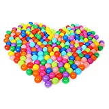Ruiying 50 Bällebadbälle Ø 5,5cm Bälle-Set für Bällebad Bunte Spielbälle Kinder-Bälle für Bällebad-Pool Plastikbälle Babybälle-7 Gemischte Farben Rot, Gelb, Blau, Grün, Lila, Pink, Orange