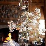 New 12PCS/Lot 80MM Christmas Hanging Tealight Holder Glass ORB Terrarium Glass Globe Candle Holder Candlestick Wedding Bar Decor
