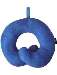 Oreiller de voyage BCOZZY avec support pour le menton – soutient la tête, le cou et le menton pour un maximum de confort en position assise. Produit breveté. (GRIS, TAILLE ADULTE)