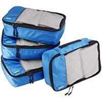 AmazonBasics Small  Packing Cubes - 4 Piece Set, Blue