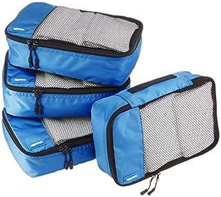 AmazonBasics Lot de 4sacoches de rangement pour bagage TailleS, Bleu (B014VBHGNM)   Amazon Products