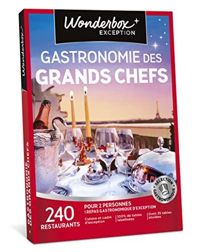 Wonderbox - Coffret cadeau noel pour couple - GASTRONOMIE DES GRANDS CHEFS - 240...