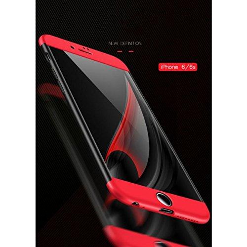 Custodia iPhone 6 Plus ,360 Gradi della copertura completa 3 in 1 Hard PC Case Cover Stilosa Protettiva Bumper Antiurto Antigraffio Posteriore Copertura per iPhone 6s Plus (nero) doro