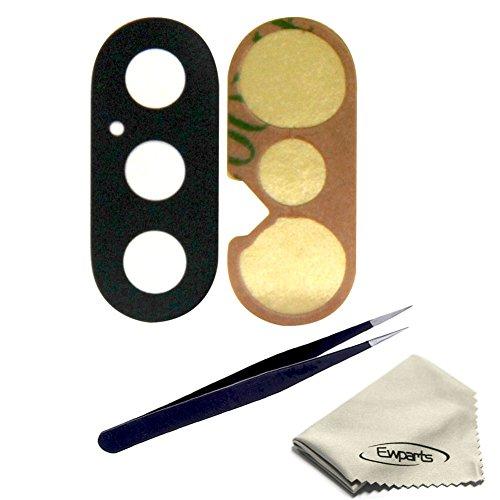 Ewparts 1 Pezzo di Vetro Posteriore della Fotocamera per Obiettivo di Riparazione della Copertura di Vetro con Parti di Ricambio di Fissaggio Adesivo per iPhone X - Tool Kit (Lens Only)