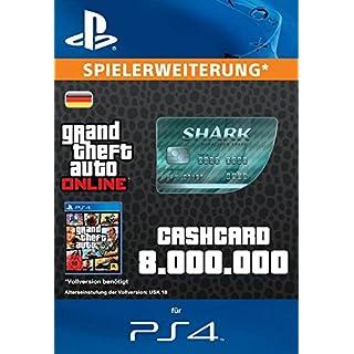 Grand Theft Auto Online   GTA V Megalodon Shark Cash Card   8,000,000 GTA-Dollars   PS4 Download Code - deutsches Konto