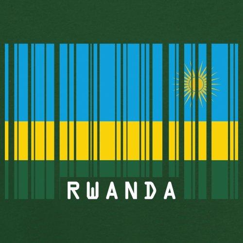 Rwanda / Ruanda Barcode Flagge - Herren T-Shirt - 13 Farben Flaschengrün