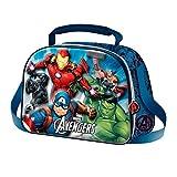 Karactermania The Avengers Powerful-3D Lunch Bag Schulranzen, 26 cm, Blau (Blue)