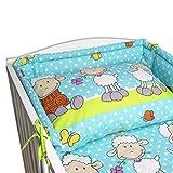 BlueberryShop Literie bébé coton | Housse couverture 90 x 120 cm | Housse coussin...