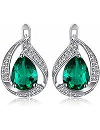 Jewelrypalace 3.4ct Luxus Grün Simulierte Nano Russischen Smaragd Ohrstecker Ohrring 925 Sterlingsilber