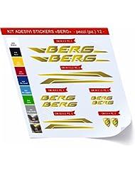 Adhesivo sticker Kit bicicleta Berg pegatinas 12–scegli Sufrido colore- bicicleta ciclo pegatina bacalao. 0478, Oro cod. 091