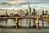 Poster 150 x 100 cm: Frankfurt Skyline am Tag von Frankfurt