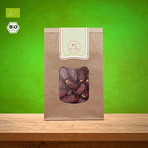 süssundclever.de® | Bio Medjool Datteln aus Palästina | 500 g, 1 kg oder 5 kg | Ernte 2019 | kompostierbare Verpackung – besonders saftig und sehr groß | Jumbodatteln | Königsdatteln