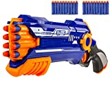 Nick and Ben Pfeil-Gewehr Dart Strike Pfeile Waffe Airsoft Softair-Gewehr 20 Softpfeilen Spielzeugblaster Multicolor