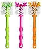 Deine Bürste 3er Pack Mixtopf Spülbürste - Reinigungsbürste perfekt geeignet zum Reinigen von z.B. Thermomix ® TM5, TM31, TM 21 - Zubehör je (1x Grün/ 1x Pink/ 1x Orange)