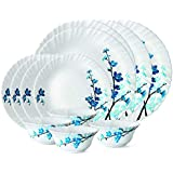 Larah By Borosil Mimosa Dinner Set 12 Pcs Dinner Set